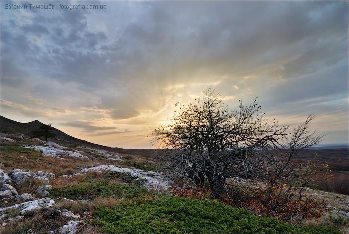 Закат на плато Чатыр-Дага