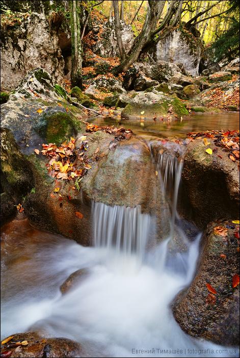 Горная река в Большом каньоне Крыма