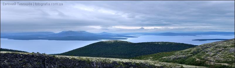 Панорама озера Большая Имандра