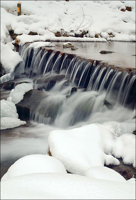 Порог зимней реки