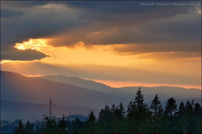 Закат в Яблунице