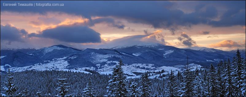 Панорама в закатном свете