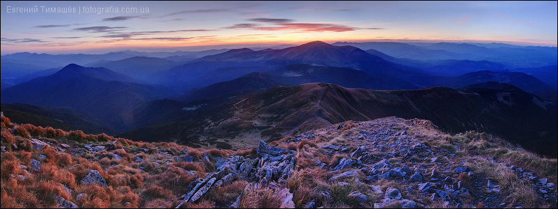 Карпатская панорама с Говерлы