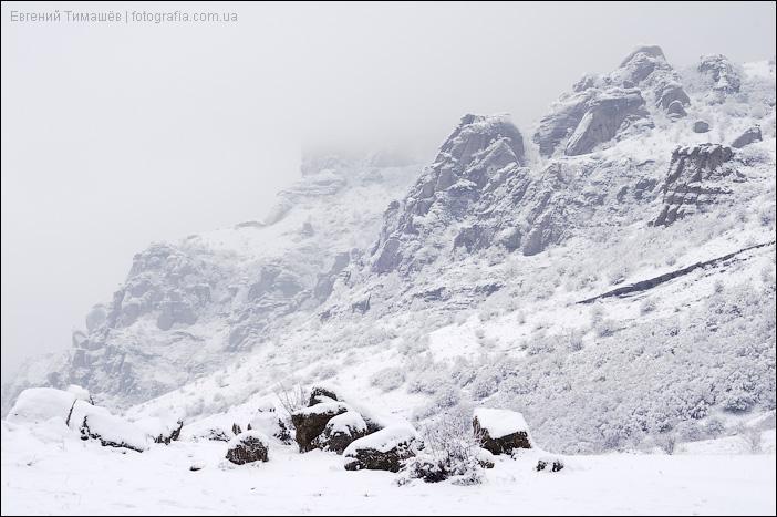 Снег и туман Демерджи