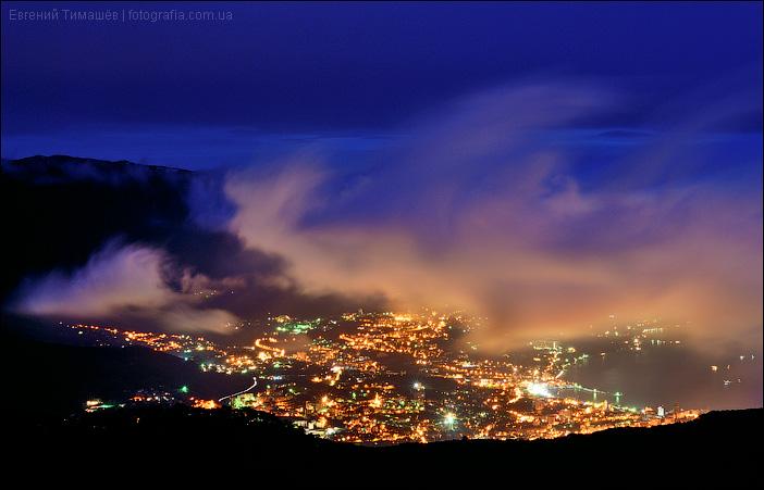 Ночная Ялта. Вид с Ай-Петри