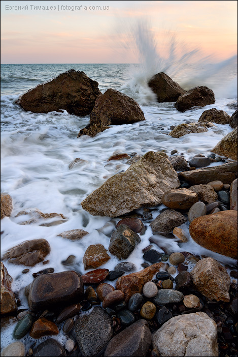 Море, камни, брызги