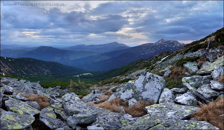 Карпаты, панорама с Туркула
