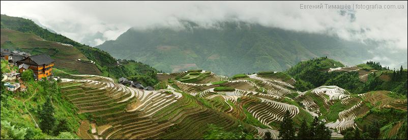 Китай, Пиньян, рисовые терассы Лонгджи, панорама