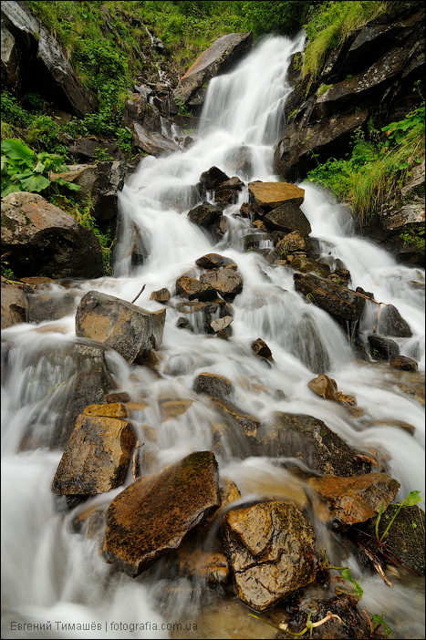 Дзембронский водопад, Карпаты