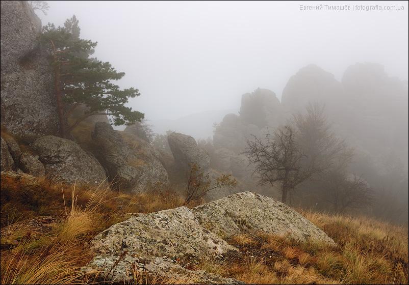 Туман на Демерджи в Крыму