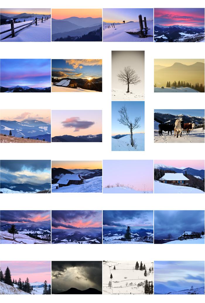 Фотографии зимних Карпат