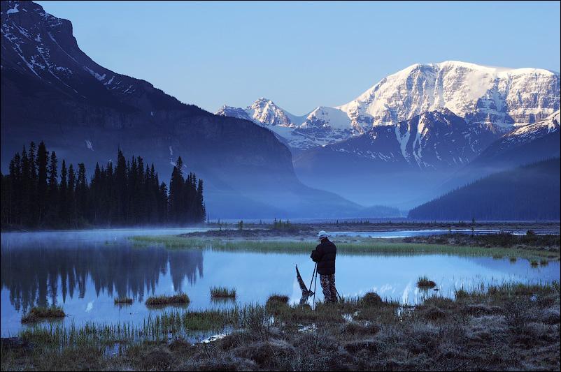 Утро на Beauty Creek, Канада, Canadian Rockies