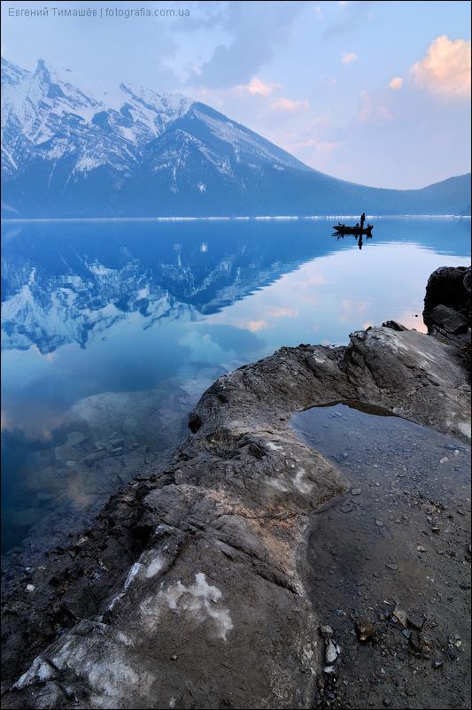 Канада, Скалистые горы (Rocky Mountains), национальный парк Банф (Banff), озеро Минневанка (Minnewanka)