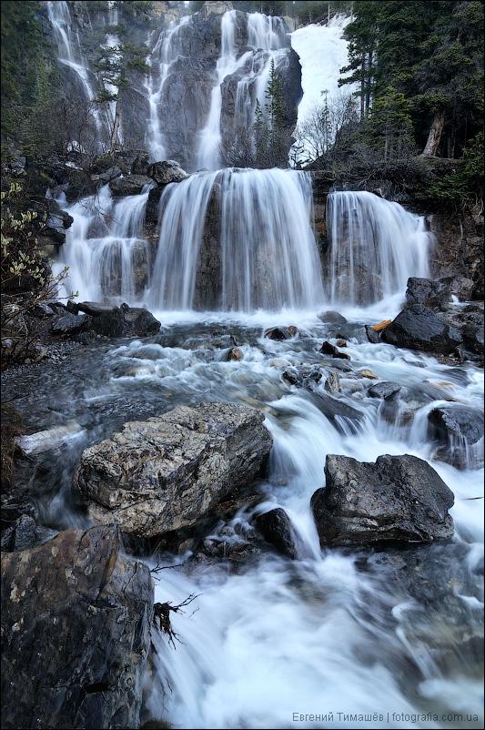 Водопад Тэнгл (Tangle falls), Канада