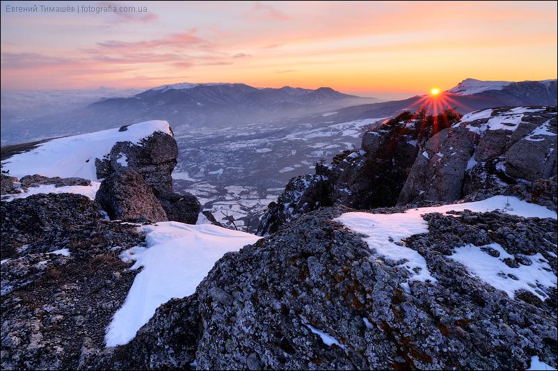 Закат, Демерджи, Крым