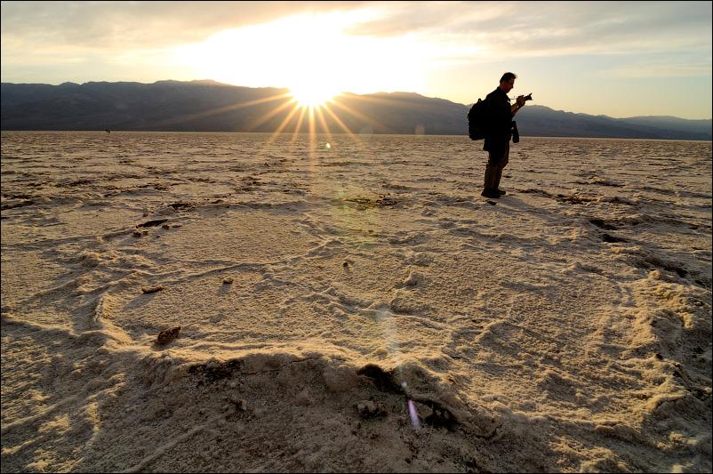Закат в Bad Waters, Death Valley (Долина смерти)