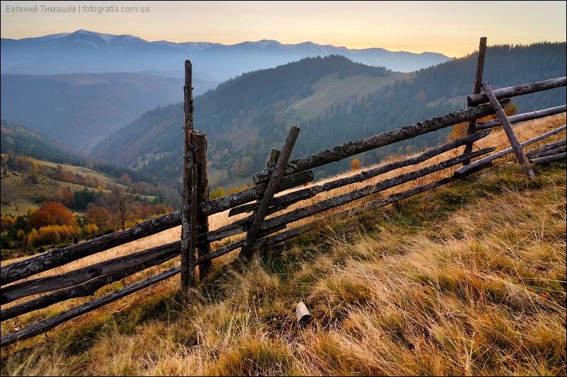Закат в Карпатских горах
