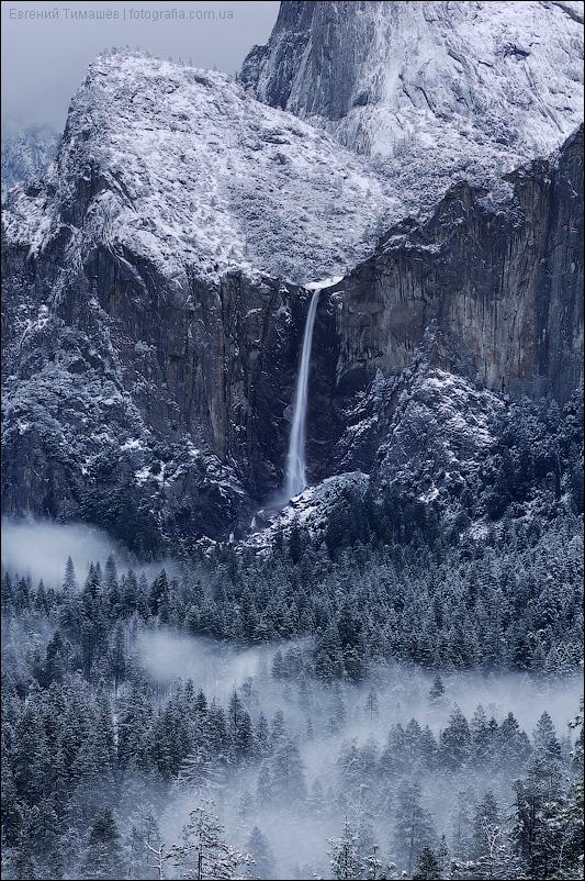 Водопад Брайдалвейл, США, Калифорния, Йосемити