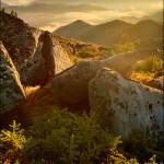 Карпаты, рассвет на Вухатом камне