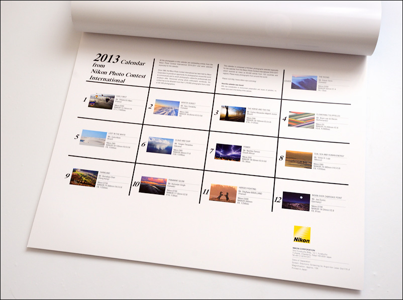 Календарь Nikon Photo Contest 2013