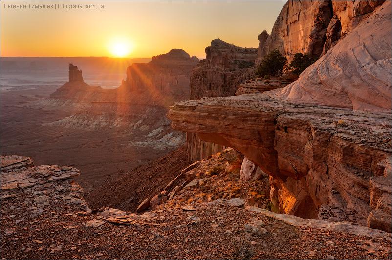 Закат в национальном парке Каньонлэндс (Canyonlands), Юта, США