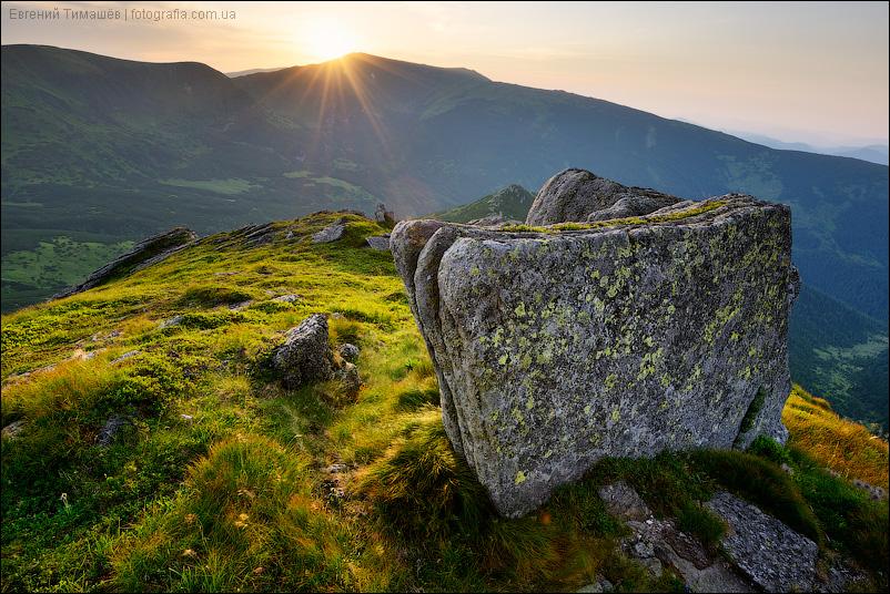 Вухатый камень, Карпаты