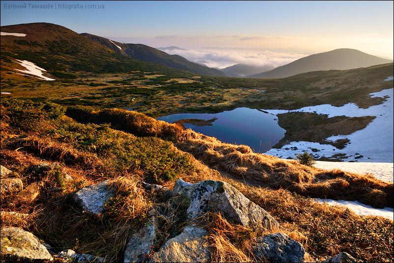 Озера Несамовытое (Несамовите), Карпаты, Черногорский хребет, рассвет