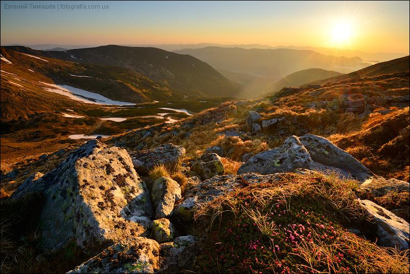 Карпаты, Черногорский хребет, рассвет