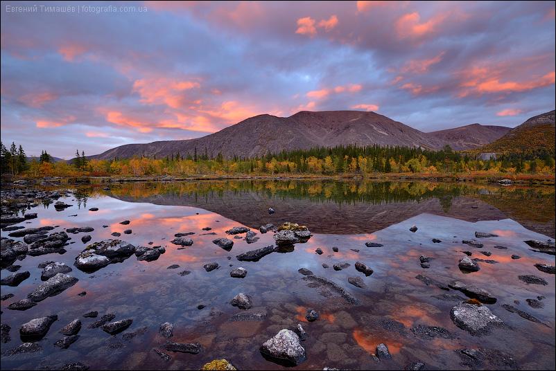 Хибины, закат на озере