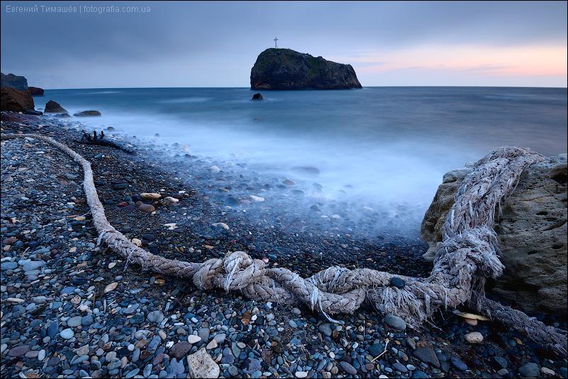 Севастополь, Яшмовый пляж, Фиолент, скала Святого явления