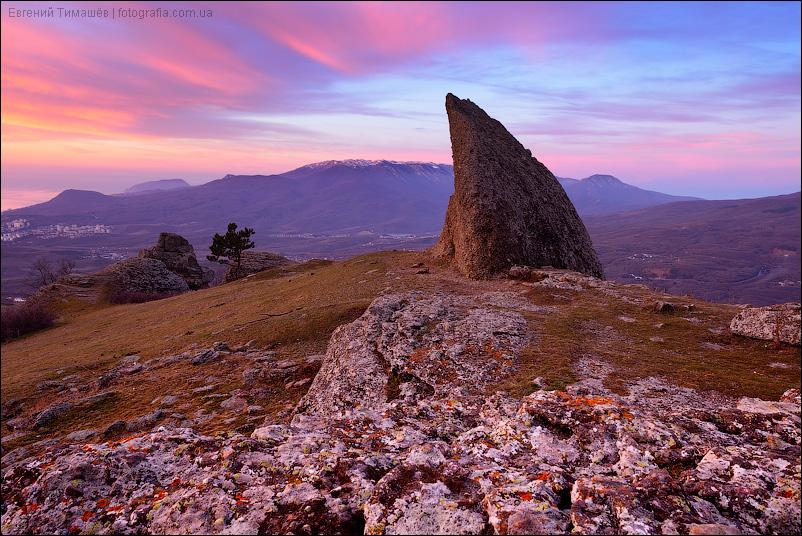 Крым, Демерджи, горы, рассвет