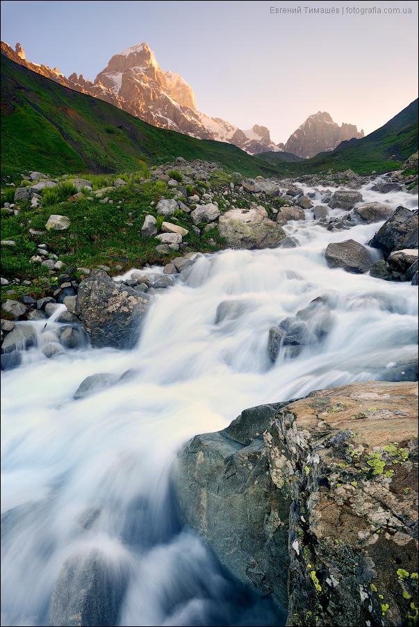 Сванетия, Ушба, горы, река