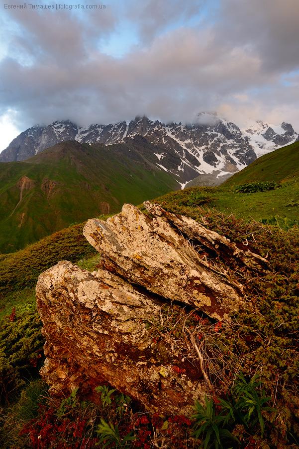Сванетия, горы, Грузия