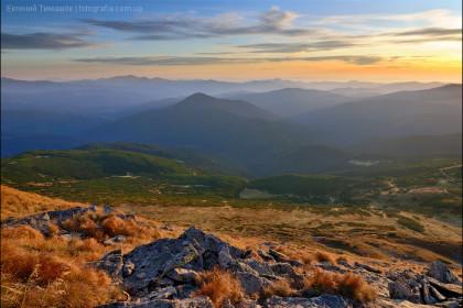 Закат с вершины Говерлы