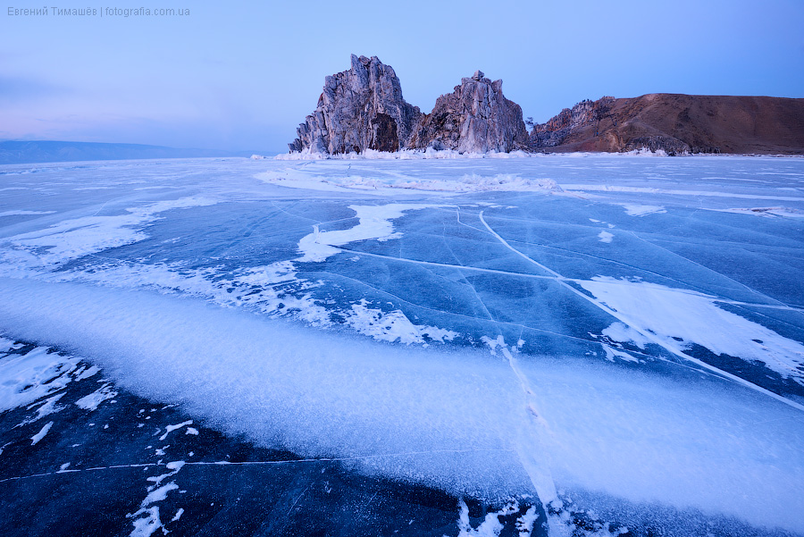 Байкал, Россия, лед, Ольхон, Шаманка, Бурхан