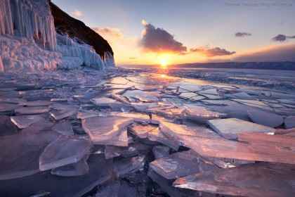 Байкал, Россия, лед, Ольхон