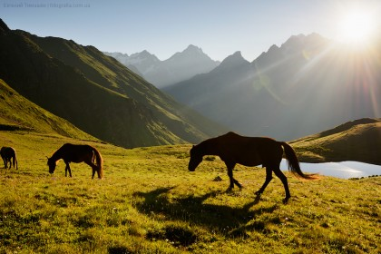 Сванетия, Грузия, озера Корульди, Кавказ, горы