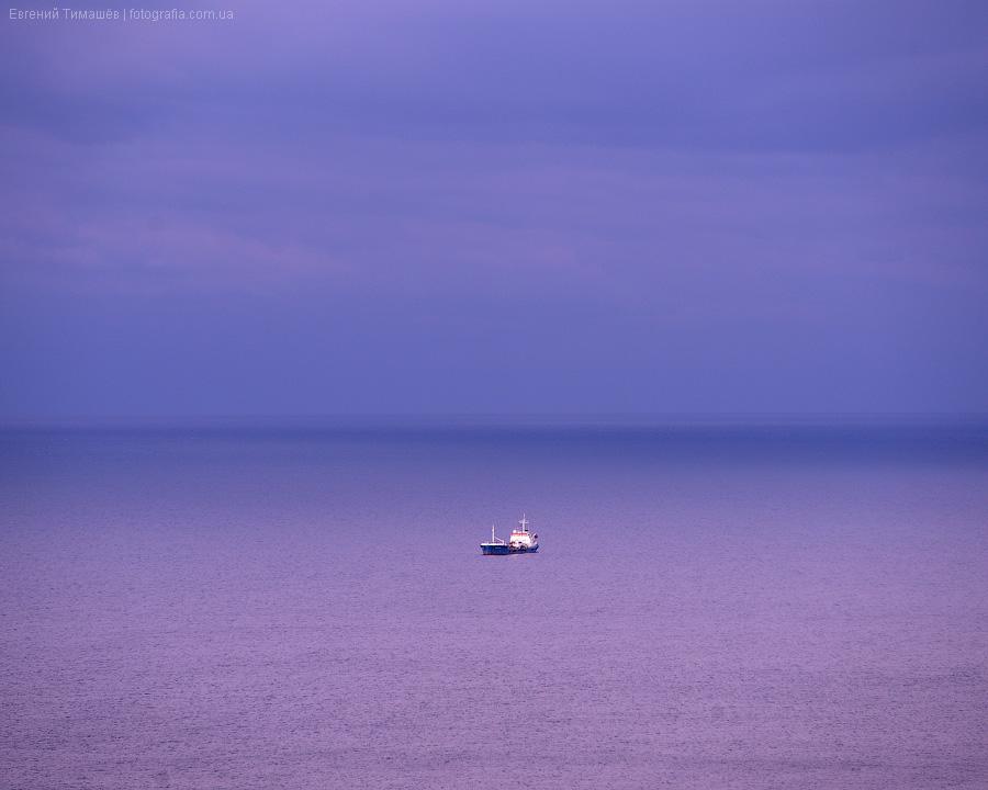 море, пейзаж, Крым, корабль